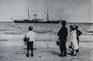 Brit strandok az 1890-es években
