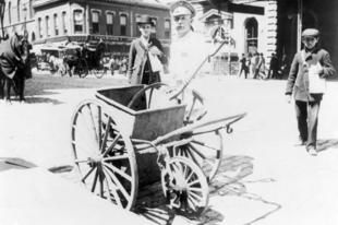 Úttisztítás az 1900-as évek elején.
