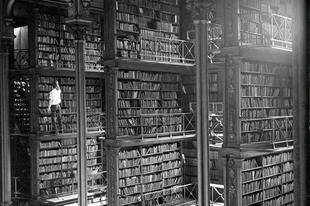A régi Cincinnati Könyvtár, mielőtt lebontották, 1874-1955