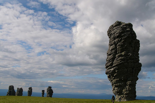 10 természetes kő oszlop, geológiai képződmény.