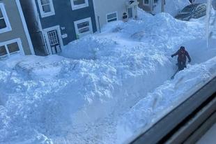 Kanadában rekord mennyiségű hó esett.