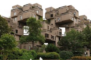 A Habitat 67 lakóépület Montréalban.