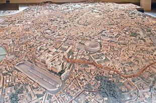 A császári Róma gipszmakettje