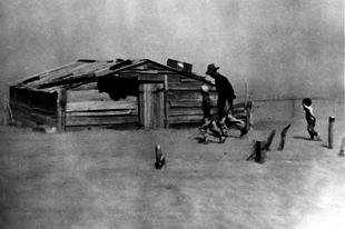 Hatalmas porviharok az 1930-as években Észak-Amerikában.