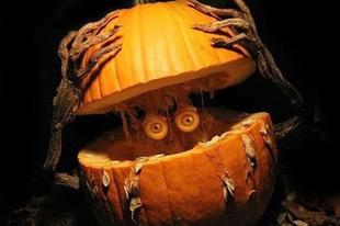 Zseniális halloween-i töklámpások.