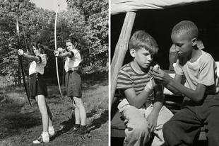 Amerikai nyári táborok az 50-es években.