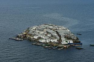 A Migingo sziget.