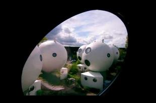 Különleges buborék házak hollandiában.
