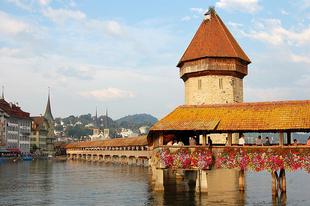 A Kapellbrücke.