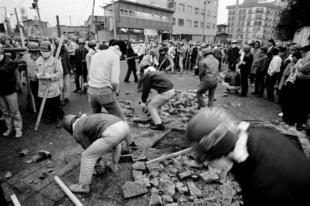 Tiltakozás a Narita repülőtér építése ellen, 1971.