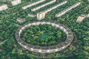Kör alakú panelházak Moszkvában
