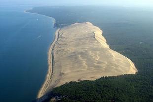 A Pilat-dűne Európa legnagyobb homokdűnéje