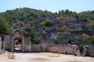 Kayaköy, a török szellemváros.