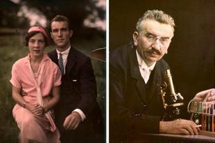 A Lumière testvérek első színes fényképei.