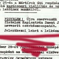Lelet: Csapatunk újjáalakulásának dokumentuma