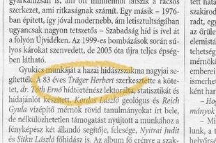Herbert bá' a hétvégi Magyar Nemzetben