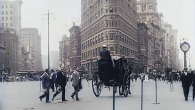 Nézz körbe 1911 New York-jában, színesben