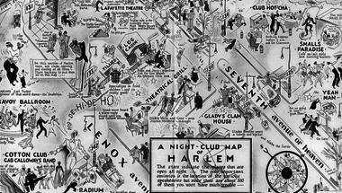 Harlemi jazztérkép 1932-ből