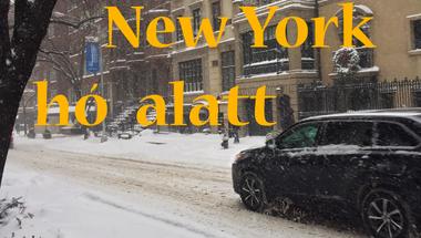 Így telik New York idei első nagy havazása