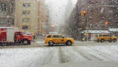 Hogy nem lett ma New Yorkban az évszázad hóvihara