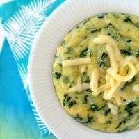 Spenótos puliszka sok sajttal