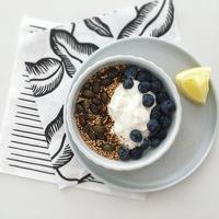 Pirított quinoa, tökmaggal és joghurttal