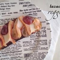 Lazacos, szőlős pirítós reggelire
