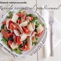 Könnyű salátavacsorák: Karcsúsító, rukkolás saláta