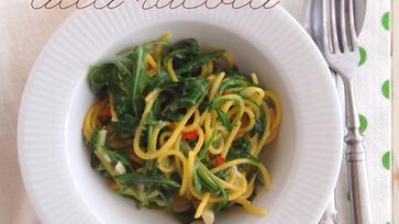 Rukkolás-fokhagymás-chilis spagetti