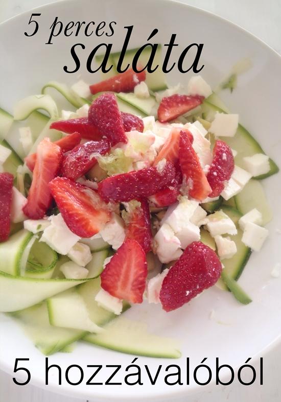 >5 perces saláta5 hozzávalóból