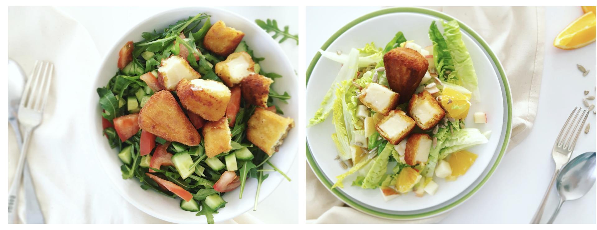 Aranyfalatok - Medve sajt - 5 hozzávalós salátakkal