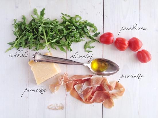 Karcsúsító, rukkolás saláta hozzávalói