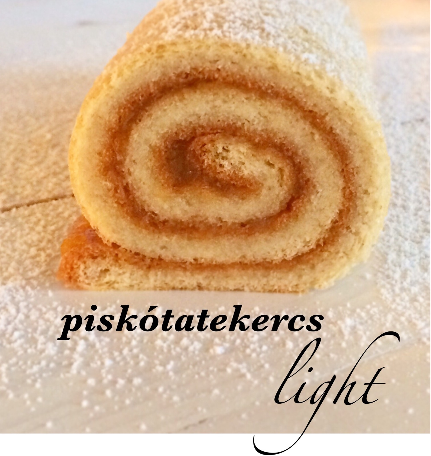 Piskótatekercs light