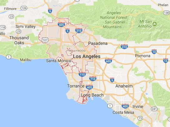 los angeles térkép 5 Nap Los Angeles ben!   5 Nap a Városban los angeles térkép