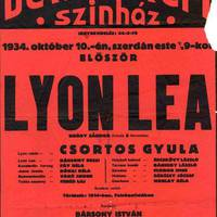 Lyon Lea – Felolvasóest a Bethlen Téri Színházban