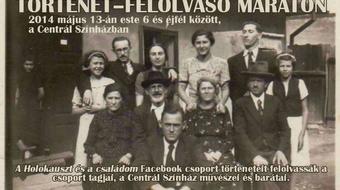 A Holokauszt és a családom – Történet-felolvasó maraton a Centrál Színházban