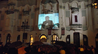 Közönségtalálkozó és szimpátiatüntetés Szegeden