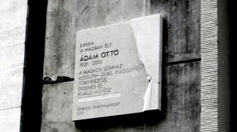 Emléktáblát avattak Ádám Ottó tiszteletére Budapesten