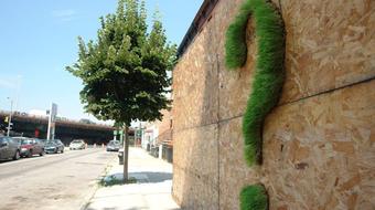 Növénygraffiti és digitális üzenőfal a Duna-parton