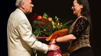 A 80 éves Kóti Árpádot köszöntötték a debreceni színházban