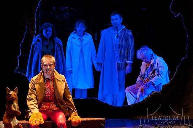 Hamlet - elöl: Krisztik Csaba, hátul: Szabó Éva, Vándor Éva, Ömböli Pál, Bakó Márta