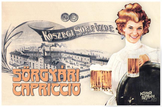 Sörgyári capriccio (képeslap) - Radnay Csilla