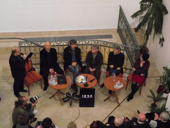 István a király közönségtalálkozó - Pleskonics András, Kesselyák Gergely, Bródy János, Szörényi Levente, Alföldi Róbert, Rosta Mária
