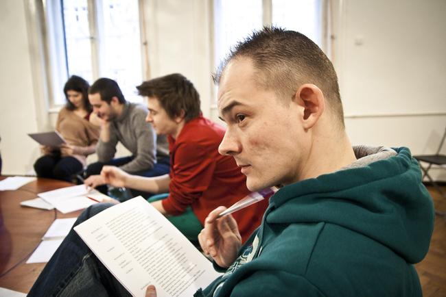Don Juan - olvasópróba - elöl: Orosz Ákos