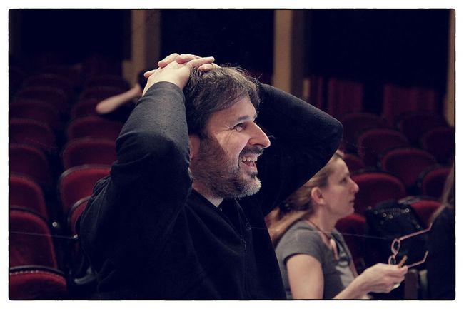 Vidovszky György rendező az előadás próbáján