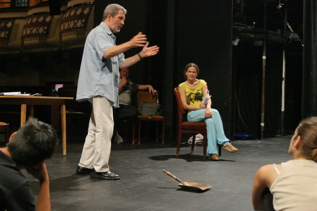 Próba a soproni színpadon