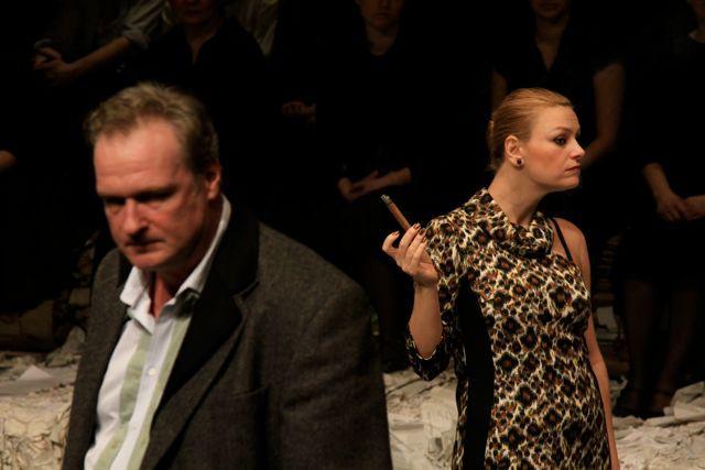Balikó Tamás és Herczeg Adrienn a Parasztopera című előadásban