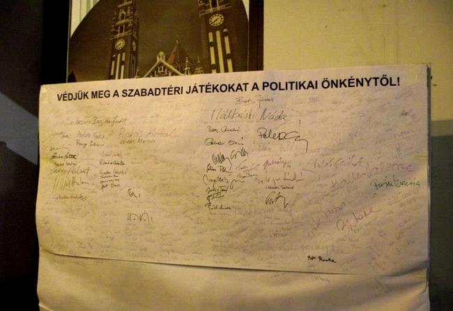 Védjük meg a Szabadtéri Játékokat a politikai önkénytől - november 30.