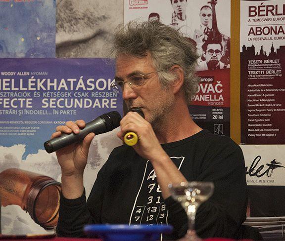 Upor László dramaturg, a közönségtalálkozók moderátora
