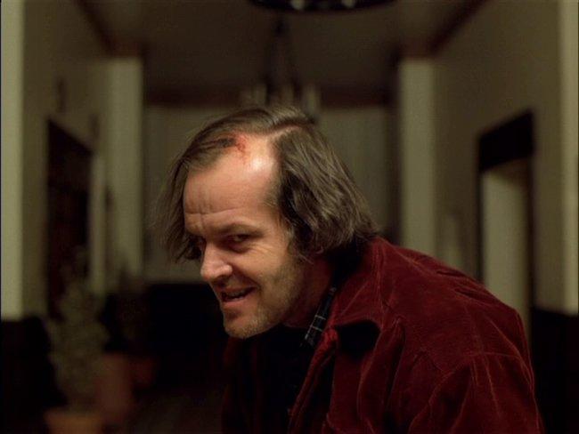 Jack Nicholson a Ragyogás című filmben